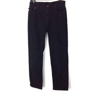 Black Lauren Co straight leg pants